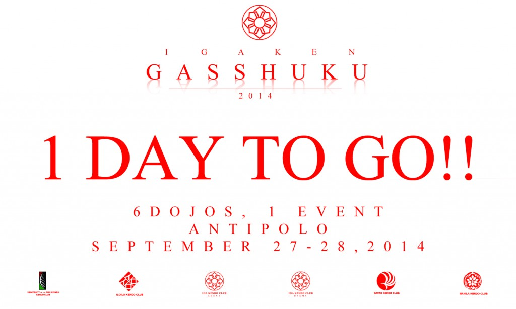 Tomorrow is Gasshuku!