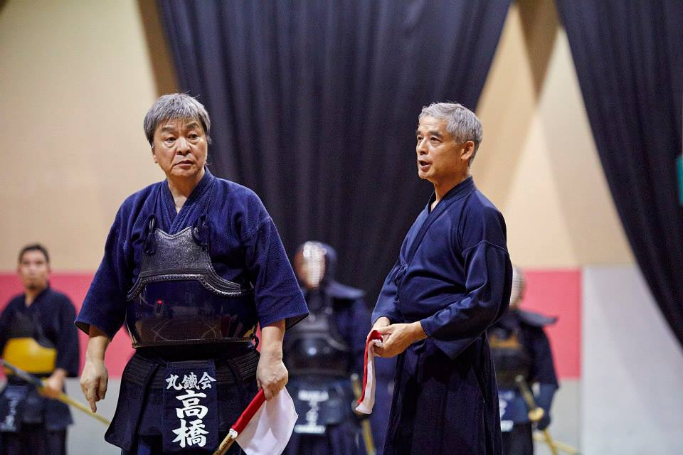 Igarashi-Sensei (right), from IGA Ken, and Takahashi-Sensei (left), one of the main organizers of the Godo Keiko Kai. (photo courtesy of Kurt Alvarez)