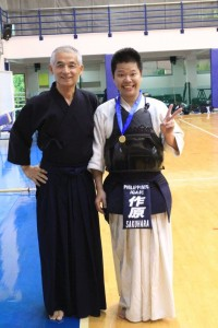 Sensei and Sakuhara-san during the 2015 IGA Ken Gasshuku