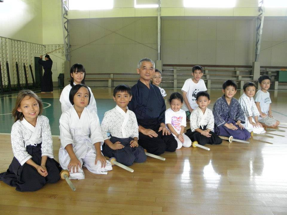 Young kendokas at the Dasma Village Dojo in 2012